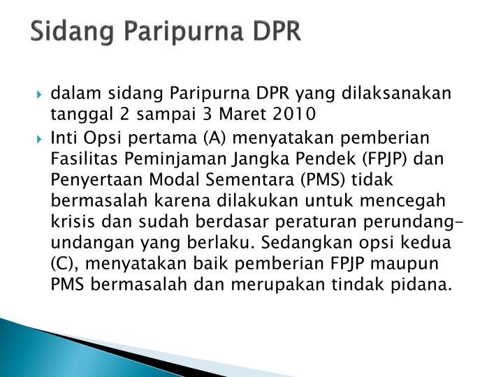 Sidang Paripurna DPR