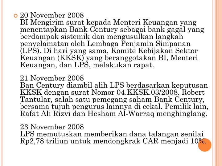 20 November 2008
