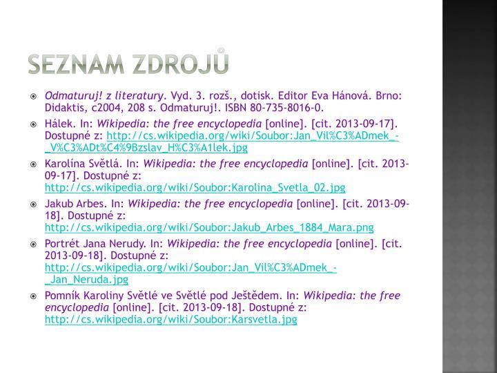 Seznam zdroj