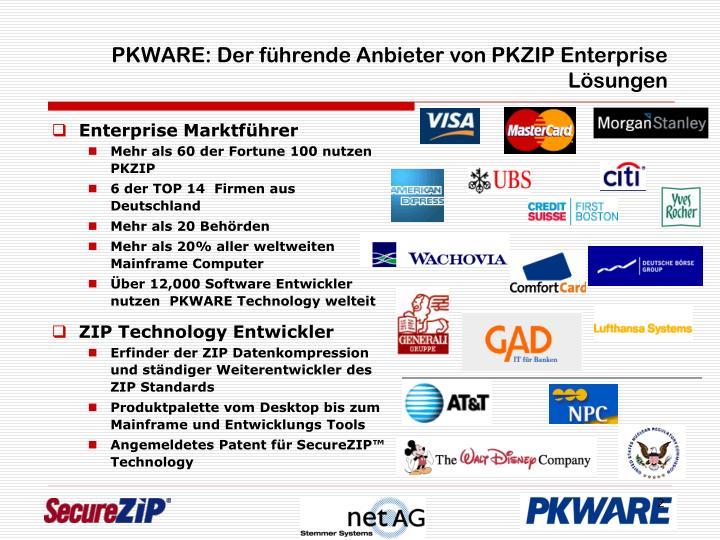 PKWARE: Der führende Anbieter von PKZIP Enterprise Lösungen