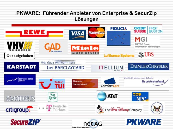 PKWARE:  Führender Anbieter von Enterprise & SecurZip Lösungen