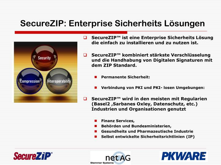 Securezip enterprise sicherheits l sungen