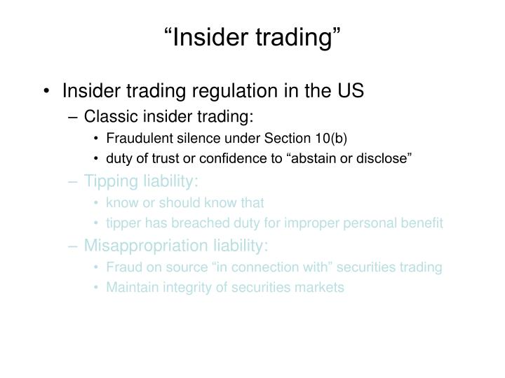insider trading in india regulations Sourabh battar introduction in a company, insider trading is trading by insider and insider do not mean employees or key managerial person of a company, insider could be connected to the information of the company and securities of the company trading by insiders while in possession of unpublished price sensitive.