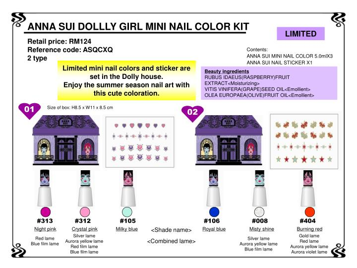 ANNA SUI DOLLLY GIRL MINI NAIL COLOR KIT