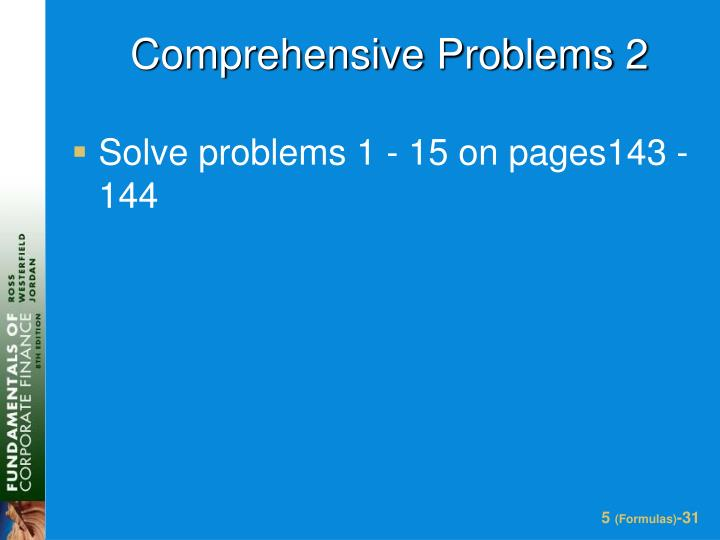 Comprehensive Problems 2
