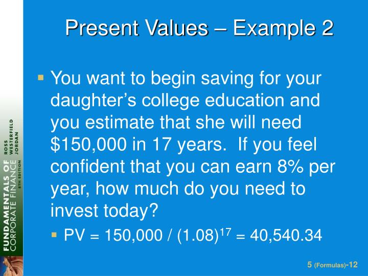 Present Values – Example 2