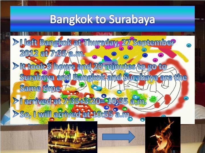 Bangkok to Surabaya