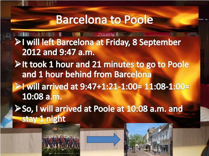 Barcelona to Poole