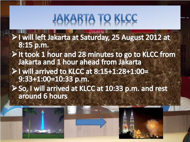Jakarta to KLCC