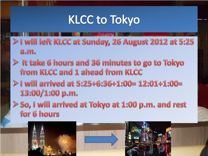 KLCC to Tokyo
