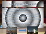 los angles to new york