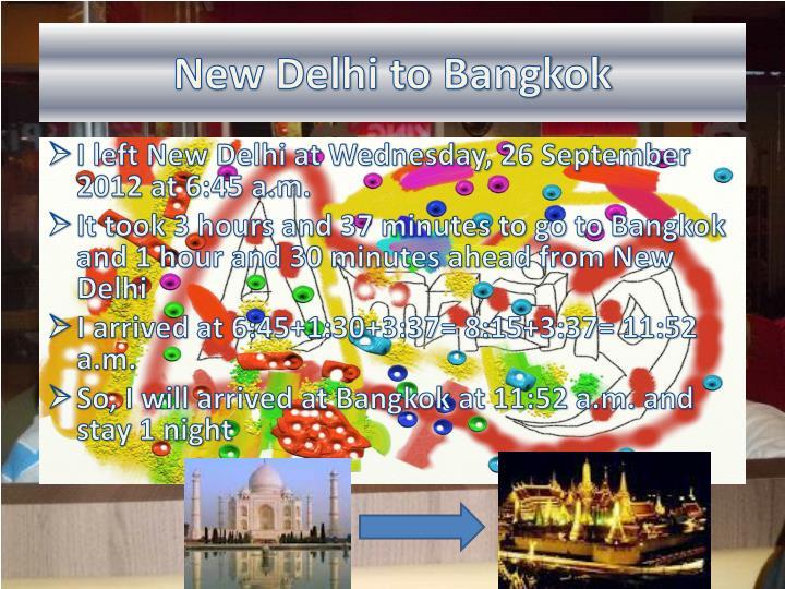 New Delhi to Bangkok
