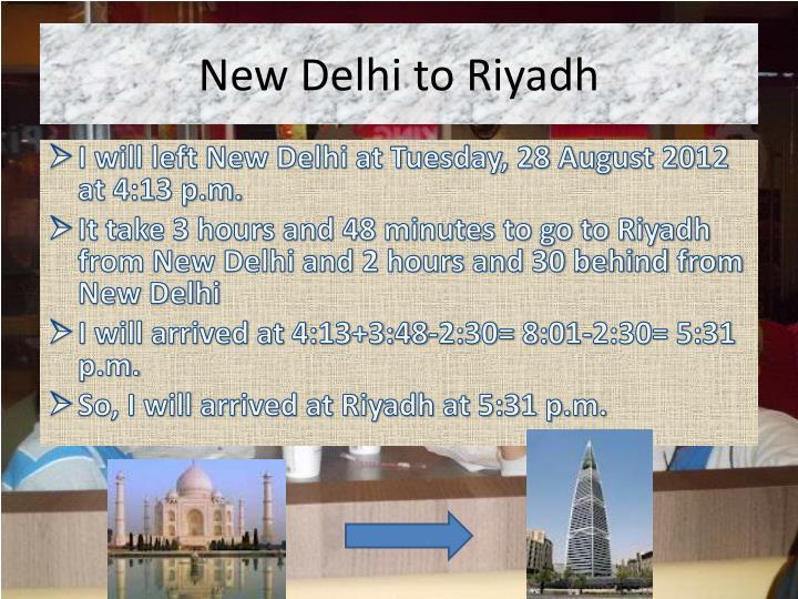 New Delhi to Riyadh