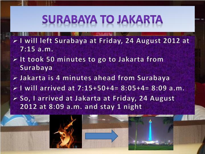 Surabaya to Jakarta