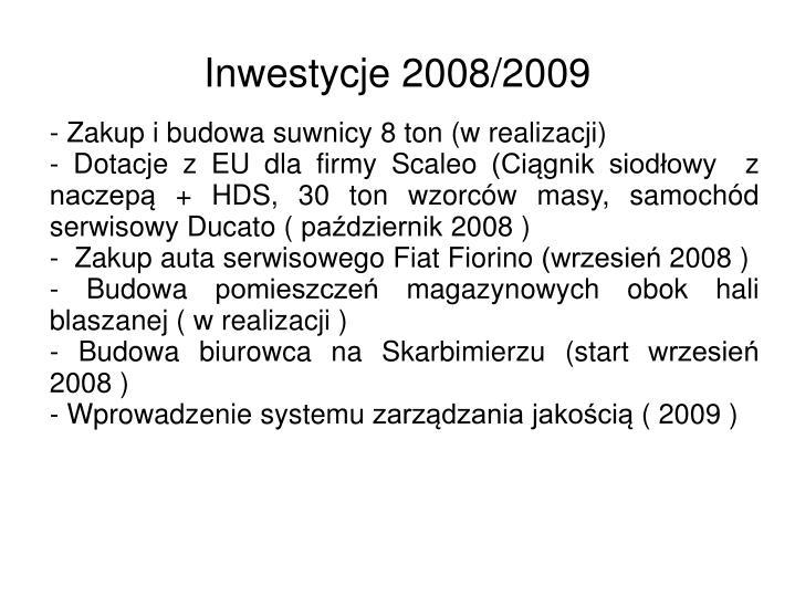 Inwestycje 2008/2009