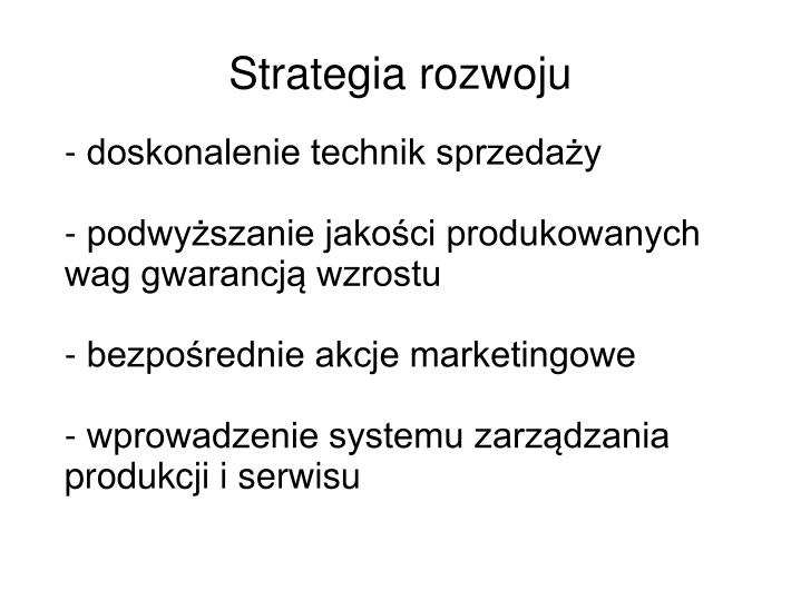 Strategia rozwoju