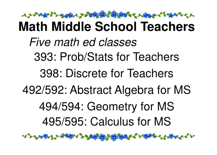 Math Middle School Teachers