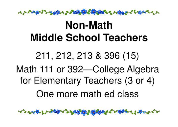 Non-Math