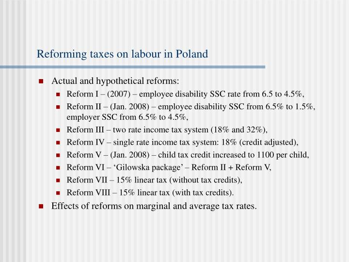 Reforming taxes on labour in Poland