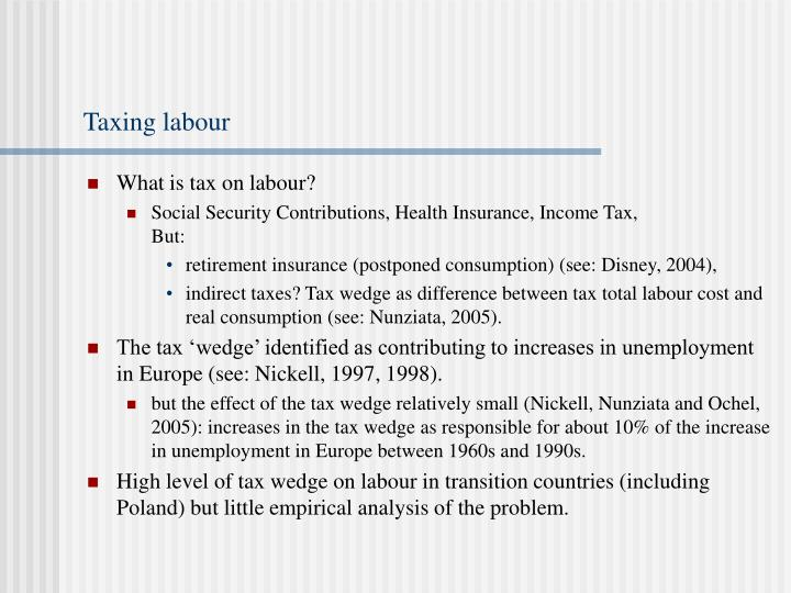Taxing labour