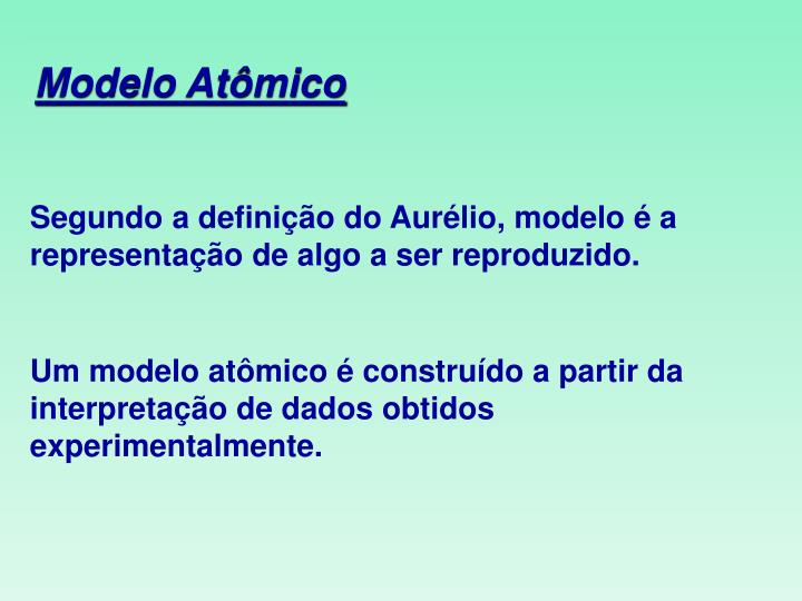 Modelo Atômico