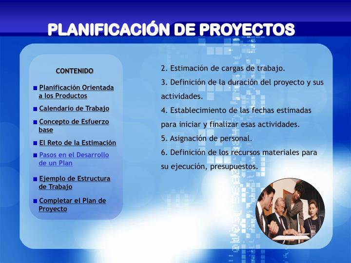 PLANIFICACIÓN DE PROYECTOS