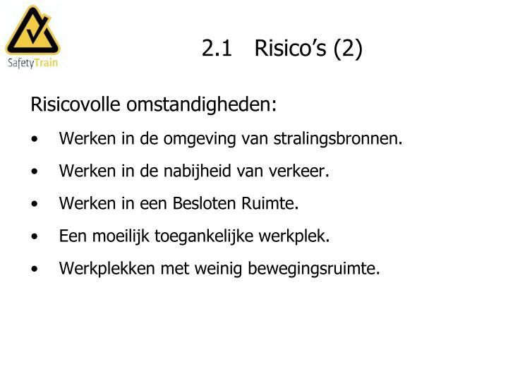 2.1   Risico's (2)