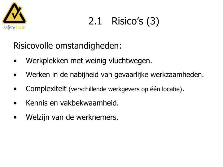 2.1   Risico's (3)