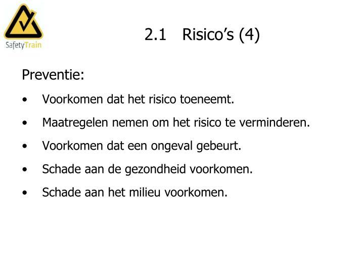 2.1   Risico's (4)
