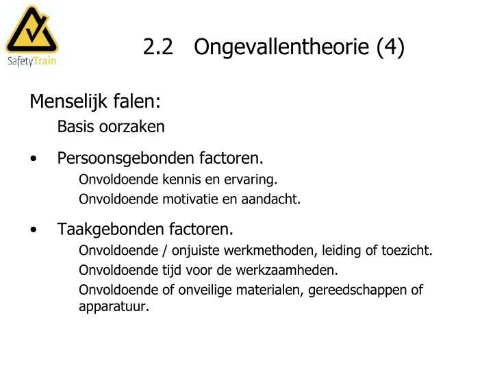 2.2   Ongevallentheorie (4)