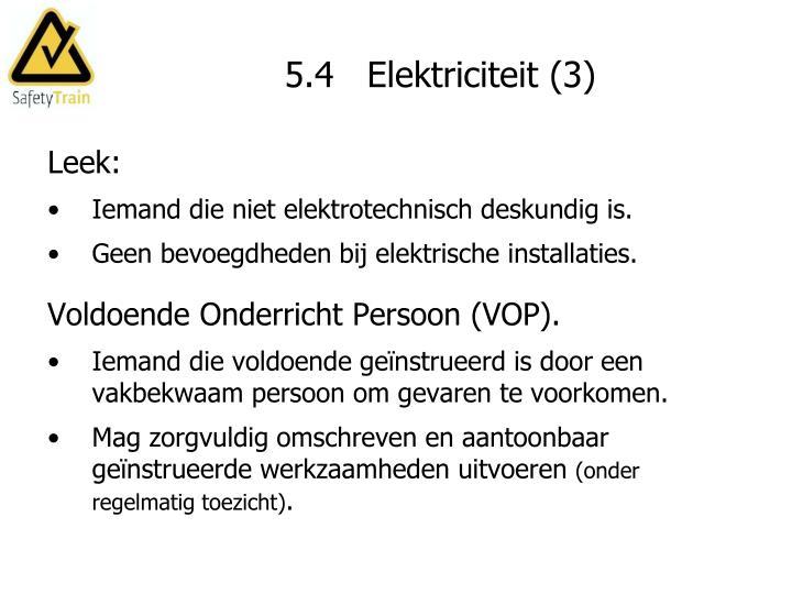 5.4   Elektriciteit (3)