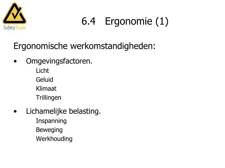 6.4   Ergonomie (1)