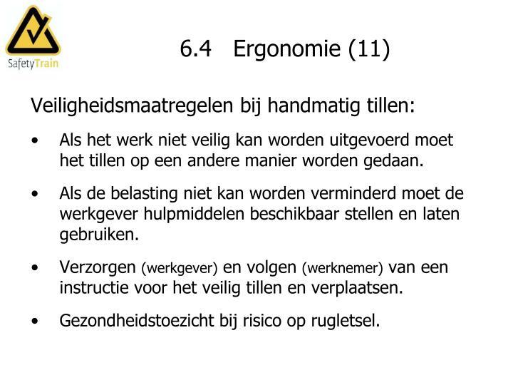 6.4   Ergonomie (11)