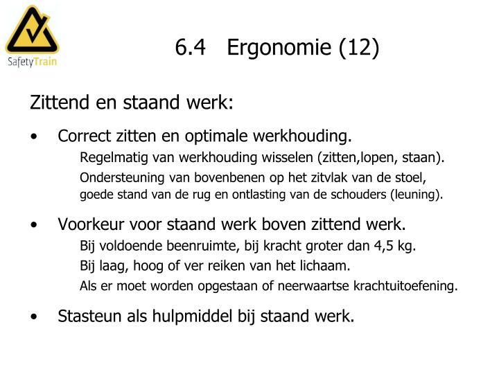6.4   Ergonomie (12)