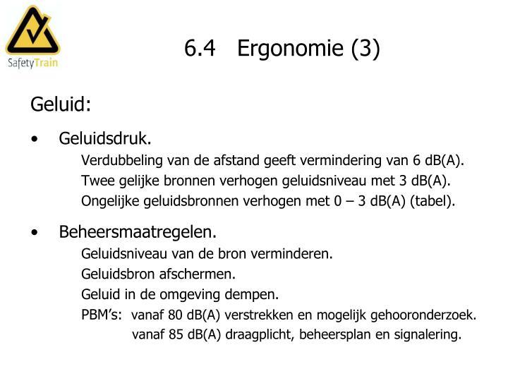 6.4   Ergonomie (3)