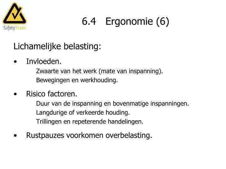 6.4   Ergonomie (6)