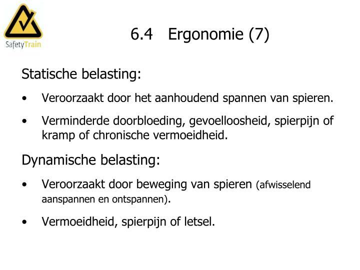 6.4   Ergonomie (7)