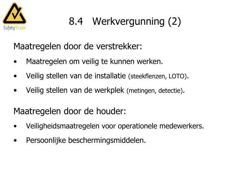8.4   Werkvergunning (2)