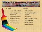 summative assessment closure and reflection