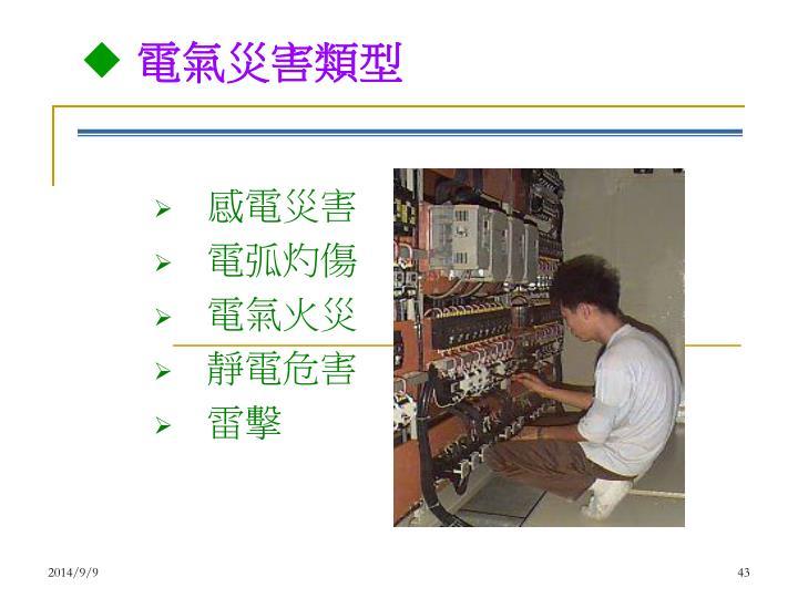 電氣災害類型
