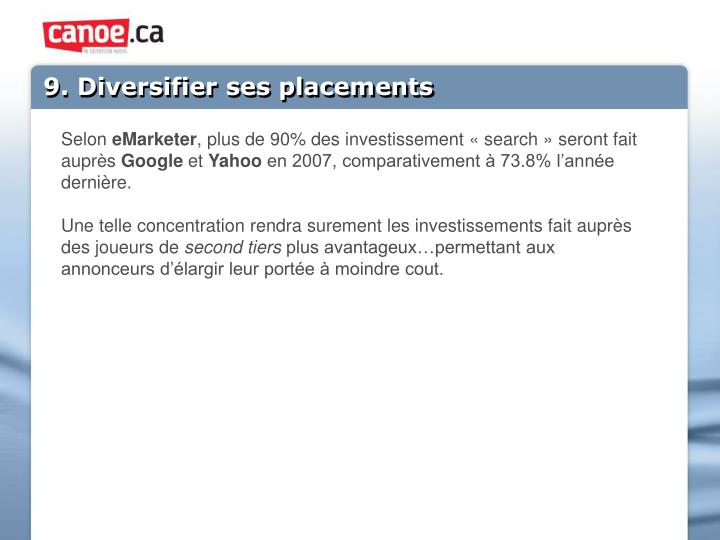 9. Diversifier ses placements