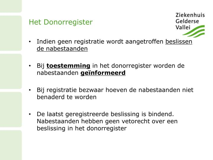 Het Donorregister