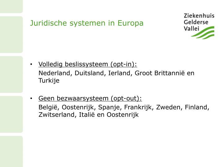 Juridische systemen in Europa