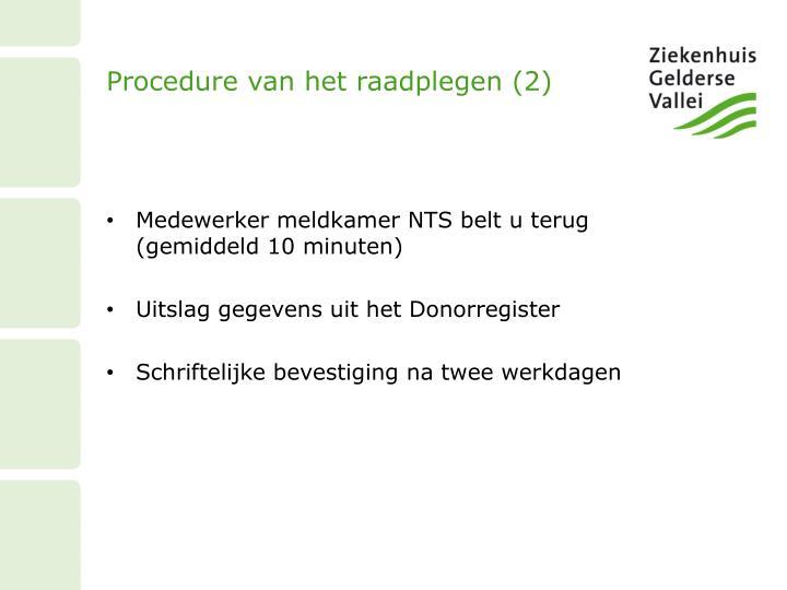 Procedure van het raadplegen (2)
