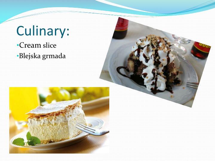 Culinary: