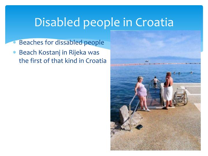Disabled people in Croatia