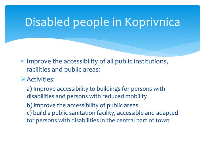 Disabled people in koprivnica1