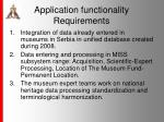 application functionalit y requirements