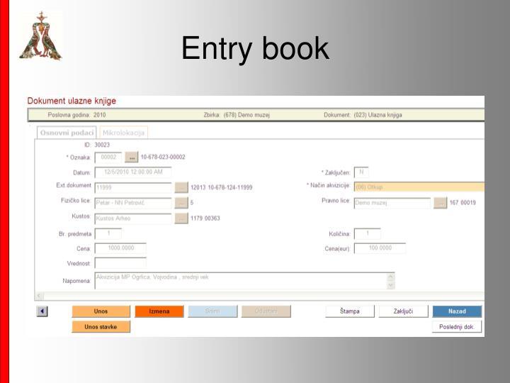 Entry book