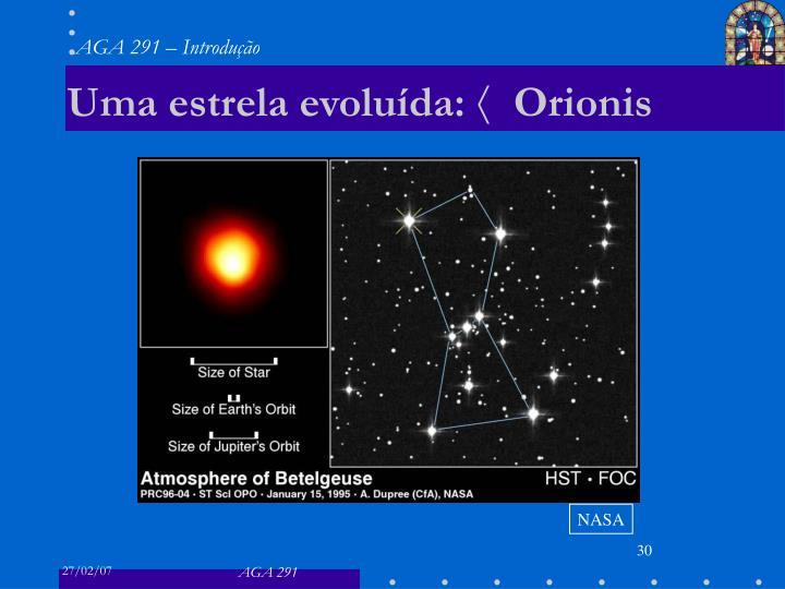 Uma estrela evoluída: